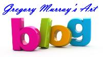 North Carolina Artist Gregory Murrays Blog Logo, three dimentual letters in raspberry, lime, orange and teal colors