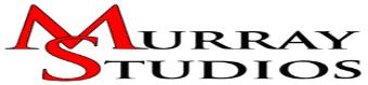 Murray Studios Logo, displayed in red, white and black letters