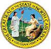 The Great Seal for the state of North Carolina,colors green, blue, yellow, white with black print