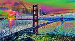 Abstract artwork by Gregory Murray titled Golden Gate 1
