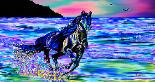 Abstract artwork by Gregory Murray titled Beach Horse